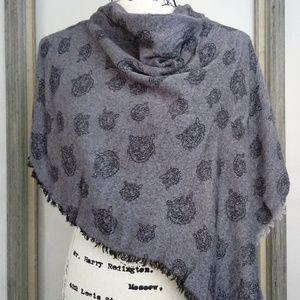 Zara Accessories - Zara Reversible Grey Black Tiger Scarf